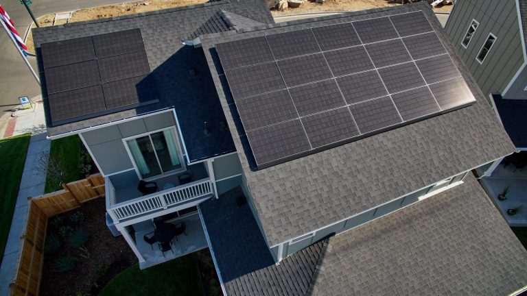 A zero-energy home built by Thrive Home Builders.
