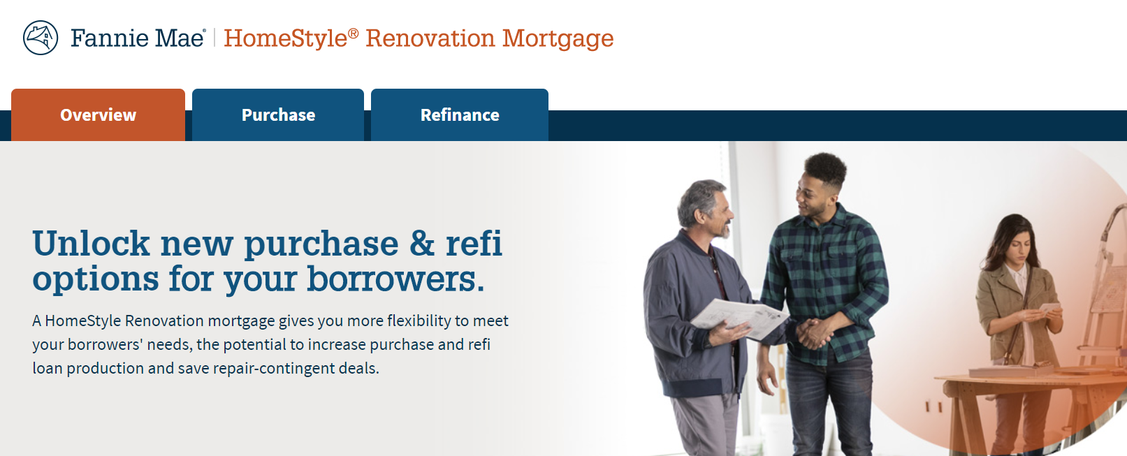 Fannie Mae Homestyle Renovation energy efficient mortgage loan