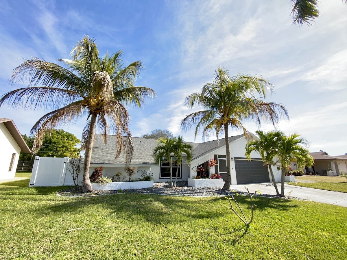 Photo of our first net-zero house in Florida