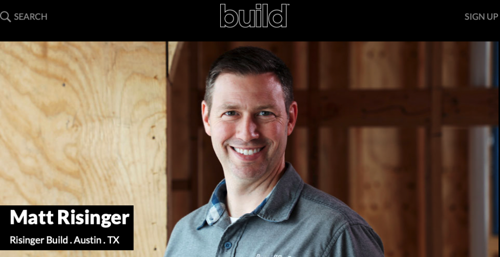 A picture of The Build Network's homepage for our Top 15 Green Building Resources article.