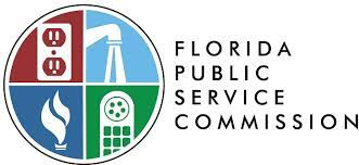 Logo of the Florida Public Service Commission which oversees Florida water bills as well as other utilities.