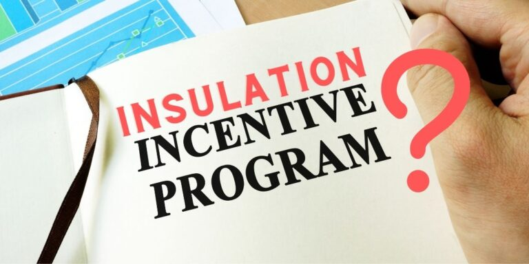 an image of a piece of paper on a desk that says Insulation Incentive Program
